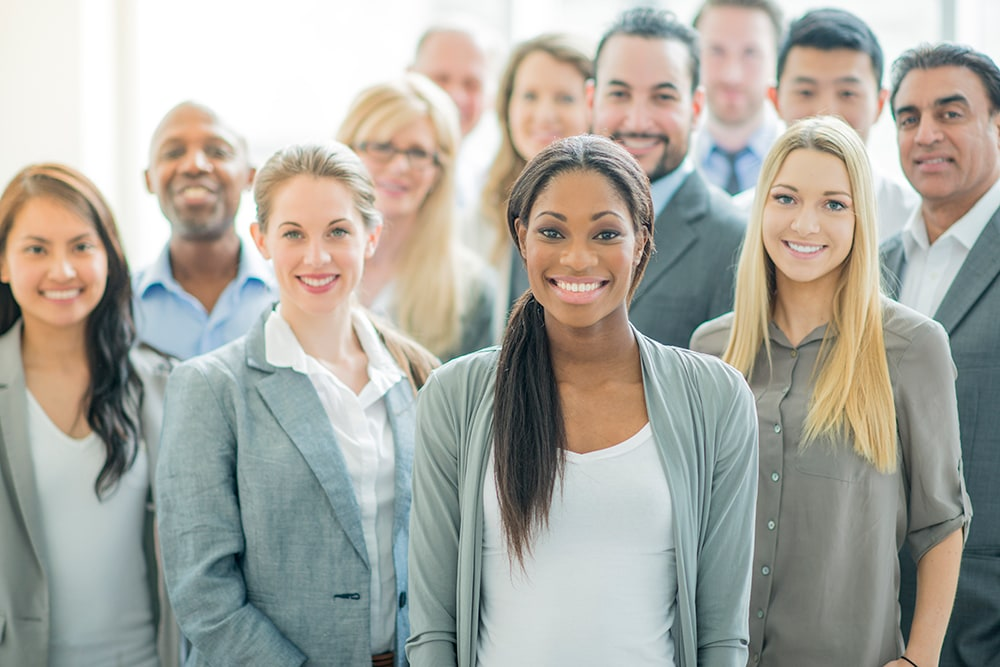Diverse team supporting business growth